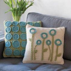 Very cool idea for crochet pillows.
