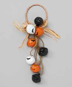 Take a look at this Orange & White Pumpkin Bell Door Hanger by Spooktacular Home: Decorations on #zulily today!