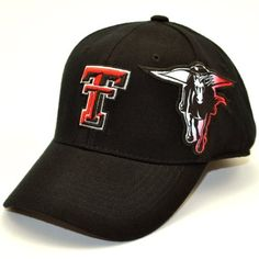 4bb758f717c71 Sports   Outdoors - Caps   Hats · NCAA Texas Tech Red Raiders Men s Free  Agent 1 Fit Cap (Black