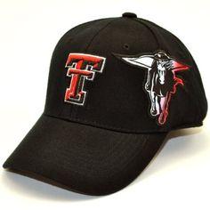 4473cf56cd5fa NCAA Texas Tech Red Raiders Men s Free Agent 1 Fit Cap (Black