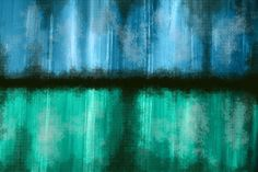 'Rain Mist' Abstract Painting Print on Wrapped Canvas