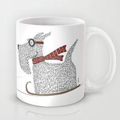 Scottie Sledding Mug