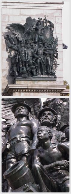 NYC. Prospect Park & Vicinity, Brooklyn. Grand Army Plaza – Soldiers' & Sailors' Memorial Arch ,1894. The Spirit of the Navy, sculpture // by Frederick William MacMonnies |  http://arte-historia.com/esculturas-del-americano-macmonnies