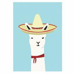 Mexican Llama print