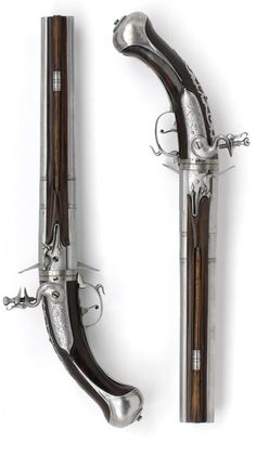 Pair of double-barrelled flintlock turn-over pistols   Maastricht   circa 1670