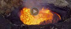 Un dron graba cómo es un volcán por dentro