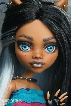 Analytical Monster High Doll Nude Poseable Clawdeen By Brand, Company, Character Werewolf Brown Hair Dark Skin