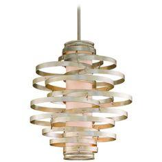 Corbett Vertigo Collection 3-Light Silver Pendant Chandelier   LampsPlus.com