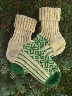 Finely Knitted Socks in Traditional Estonian Pattern