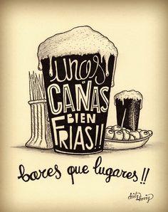 Unas cañas bien frías!! bares que lugares!! - www.dirtyharry.es                                                                                                                                                                                 Más