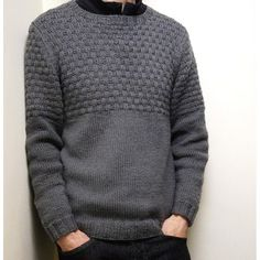 Crochet Patterns Men Ravelry: Finsbury Park Sweater pattern by Jane Howorth Mens Knit Sweater Pattern, Sweater Knitting Patterns, Sweater Design, Knitting Designs, Knit Patterns, Christmas Knitting Patterns, Men Sweater, Crochet Men, Sweater Fashion