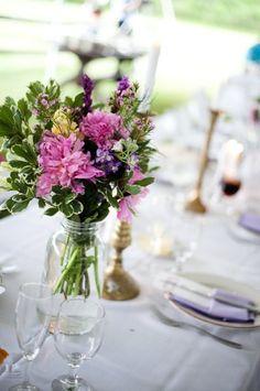 Rustic Green Pink Centerpiece Centerpieces Fall Garden Summer Wedding Flowers Photos & Pictures - WeddingWire.com
