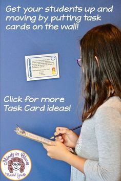 31 Terrific Ways to Use Task Cards with Your Students - Minds in Bloom Reading Resources, Teaching Reading, Teaching Tools, Teaching Materials, Guided Reading, Teacher Resources, Math Math, Math Fractions, Math Games