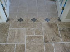 Tile transition/border. Need to remember when laying different flooring.