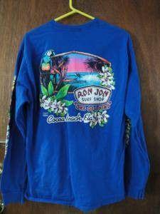 Mens Ron Jon Paradise Surf Shop Blue Long Sleeve Tee Cocoa Beach L Large  Kula Shaker e9a4174b631