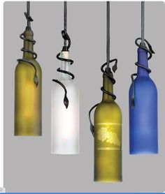 Creative Ways to Recycle - Recycled Wine Bottle Chandelier