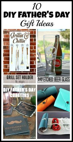 If you're trying to think of ideas for a DIY Father's Day gift, then you've got to take a look at this list! You'll find the perfect gift for any dad! Homemade Fathers Day Gifts, Diy Gifts For Dad, Fathers Day Crafts, Gifts For Father, Unique Diy Father's Day Gifts, Grill Set, Daddy Day, Father's Day Diy, Jar Gifts