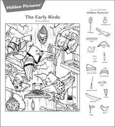 Hidden Object Puzzles, Hidden Picture Puzzles, Hidden Objects, Animal Activities, Craft Activities For Kids, Kindergarten Activities, Highlights Hidden Pictures, Hidden Pictures Printables, Indoor Games For Kids