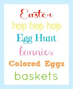 Easter Printable - Organize and Decorate Everything