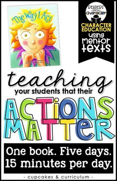Actions Show Others Who We Are - Character Education Colleges For Psychology, School Psychology, Teaching Social Skills, Social Emotional Learning, Character Education Lessons, Physical Education, Health Education, Special Education, Teaching Character