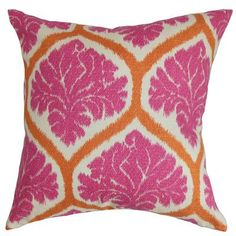 The Pillow Collection Priya Floral Bedding Sham Color: Pink, Size: Standard