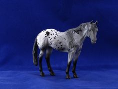 2015.Custom painted CollectA quarter horse to appaloosa. Custom by Zane Lahdenranta ( Frosty Birch Studio)