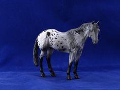 2015.Custom painted CollectA quarter horse to appaloosa. Custom by Zane Lahdenranta ( Frosty Birch Studio)