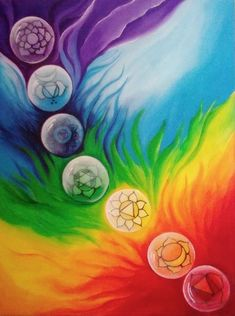 Healing the Chakras: Root Chakra ( Muladhara) - Awaken Mindset Meditation Art, Chakra Meditation, Yoga Art, Art Chakra, Chakra Painting, Rainbow Art, Rainbow Colors, Psychedelic Art, Yoga Kunst