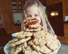 No Flour Oatmeal Chocolate Chip Cookies...soft and chewy!
