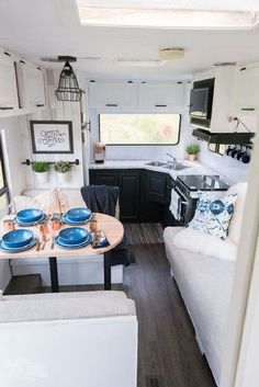 Famous Easy Rv Remodel Decorating Ideas Our Diy Camper Gorgeous Renovated Rv Tour With Diy Paint Job Vinyl Plank Happy Campers, Rv Campers, Camper Van, Small Campers, Camper Life, Rv Travel Trailers, Camper Trailers, Casita Trailer, Trailer Diy