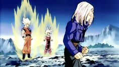 SSJ Unite ! I just loved the fact that Trunks' jacket shredded up.