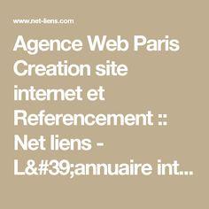 Agence Web Paris   Creation site internet et Referencement :: Net liens - L'annuaire internet