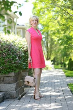 Hot Pink Dress Has a Happy Summer Feel | Fabulous After 40