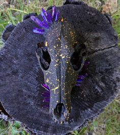 Your place to buy and sell all things handmade Coyote Animal, Coyote Skull, Fox Skull, Skull Art, Witch Decor, Spooky Decor, Gothic Jewelry, Unique Jewelry, Painted Animal Skulls