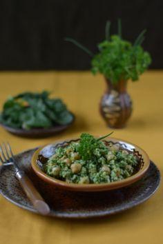 Colors in the Kitchen: Csicseriborsó kuszkusszal és friss zöldekkel