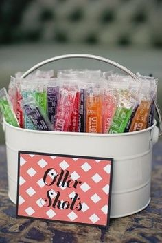 For an outdoor summer wedding, serve up some alcoholic Otter Pops. | 31 Impossibly Fun Wedding Ideas