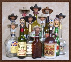Peters Creek Studios Representing Matt Hey Sculpture, Wine Bottle Stoppers, Hand Carved and Turned Wood, Western, Unique Wine Stopper Shop, wine bottle stopper, topper shop, wine accessories, sculpture cowboy wine stoppers, cowboy wine corks