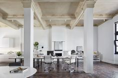 Gorgeous high ceilings, all white office space. The Stella Collective's Own Studio in Melbourne's Prahran | Yellowtrace