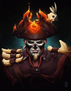 Been thinking about drawing my Sea of Thieves character for some time and here he is 😁 I've been playing SoT since day one and it easily became my best online experience! in and still going strong, So here's to another one Rare 🍻 prints are Sea Of Thieves, Pirate Art, Pirate Adventure, Best Gaming Wallpapers, Art Programs, Pirates Of The Caribbean, Character Design Inspiration, Cool Art, Deviantart