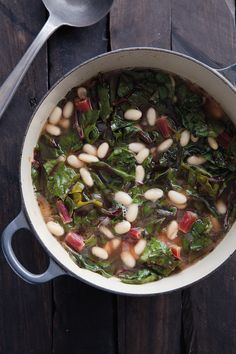 White Bean Soup with Red Chard