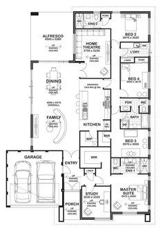 Best house plans, dream house plans, house floor plans, home design pla Best House Plans, Dream House Plans, House Floor Plans, Home Design Floor Plans, Dream Home Design, 4 Bedroom House Plans, House Rooms, Pool House Designs, House Blueprints