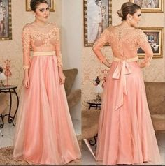 Nice Evening Dresses plus size A Line Lace Pink Long Prom Dresses Sexy With 3/4 Long Sleeves Floor Length Chiff... Check more at https://24myshop.tk/my-desires/evening-dresses-plus-size-a-line-lace-pink-long-prom-dresses-sexy-with-34-long-sleeves-floor-length-chiff/