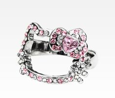 Hello Kitty Face Ring: Pink Bow Rhinestone