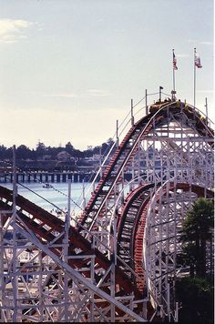 Santa Cruz Beach Boardwalk. The Giant Dipper