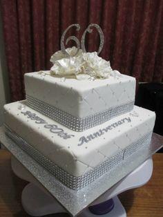60th anniversary diamond cake | 60th wedding anniversary ...