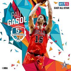 Pau Gasol / Eastern All-Stars Starters / 2015 NBA All-Star Game in NYC