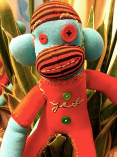 Yes Therapy Sock Monkey by POST STREET by katarinathorsen on Etsy, $45.00