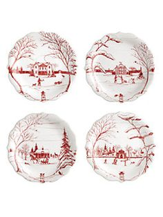 Juliska - Country Estate Holiday Party Plates/Set of 4