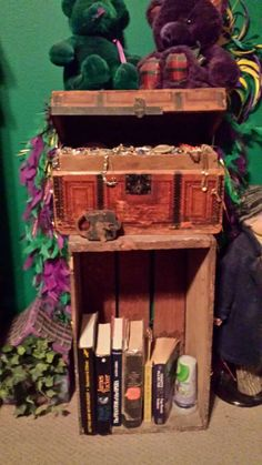 Treasure chest for old jewelry and books