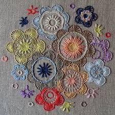 Billedresultat for embroidery flowers